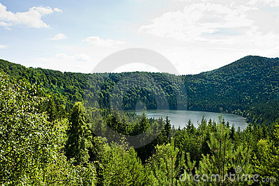 Saint Ana volcanic lake in Romania