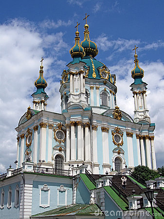 Saint andrew church, kiev, ukraine,