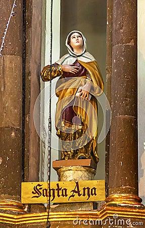 Free Saint Anne Statue Mary`s Mother Convent Nuns San Miguel De Allende Mexico Stock Image - 85667231