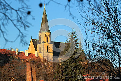 Saint Apollinare church in Prague