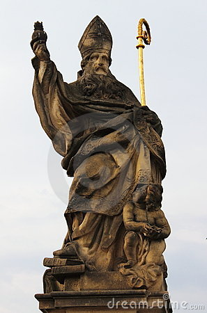 Free Saint Augustine Statue Royalty Free Stock Images - 21699049