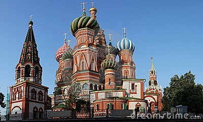 Saint basil cathedral at Moscow