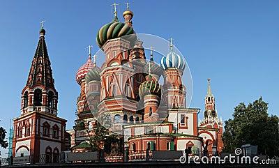 Saint basil cathedral at Moscow