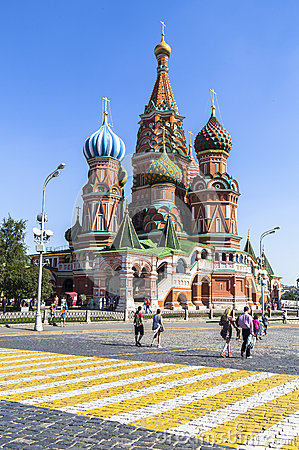 Free Saint Basil S Cathedral In Moscow Stock Image - 58687401