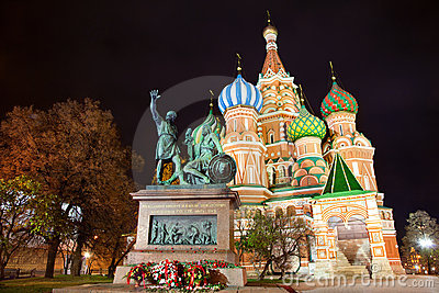 Saint Basil s Cathedral at night, Moscow