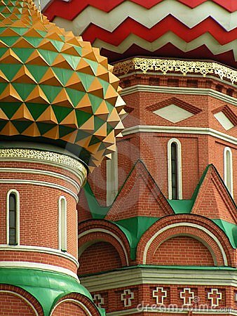 Free Saint Basil�s Cupolas, Moscow, Russia Stock Image - 184621