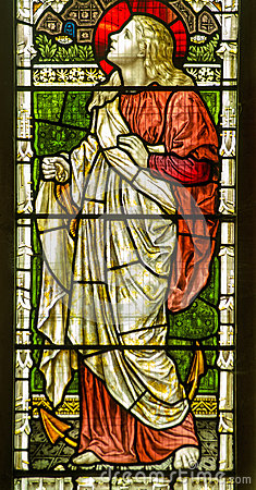 Saint Clement stained glass window