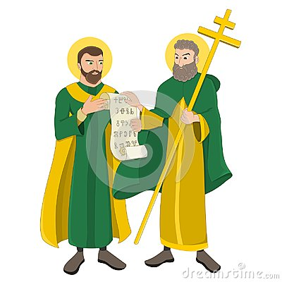 Saint Cyril and Methodius Cartoon