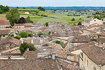 Saint-Emilion village and vineyard