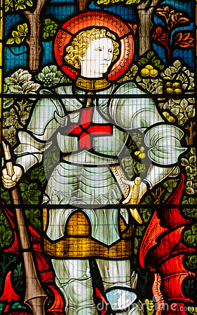 Saint George stained glass window