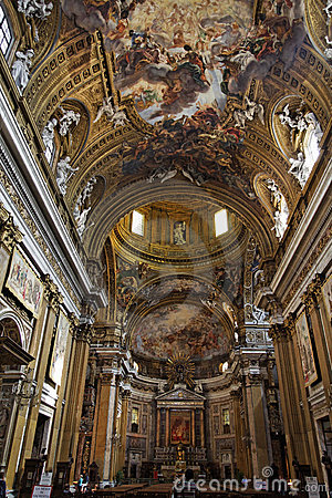 Saint Ignatius Of Loyola Church Rome Royalty Free Stock
