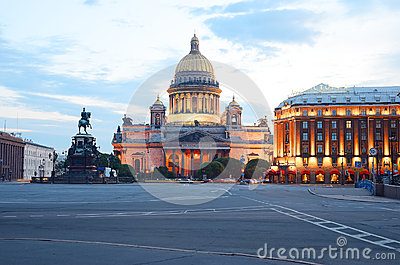 Saint Isaac s Square Editorial Stock Image