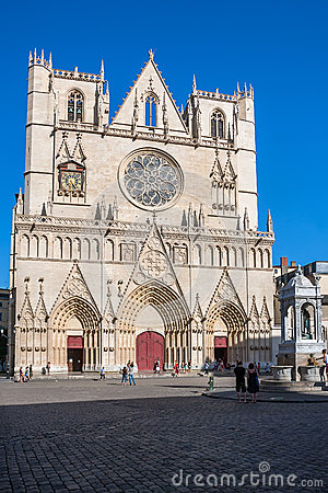 Saint Jean cathedral in Lyon, France