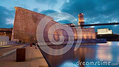 Saint Jean de fort à Marseille banque de vidéos