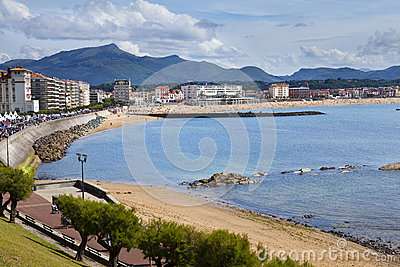 Saint Jean de Luz beach in Pays Basque, France