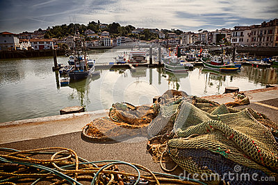 Saint Jean de Luz harbour in France