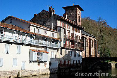 Saint-Jean-Pied-de-Port village in basque province