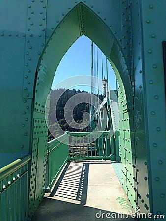 Free Saint Johns Bridge Portland Oregon Royalty Free Stock Images - 40806049