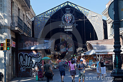 Saint Joseph Market Rambla Barcelona Editorial Image
