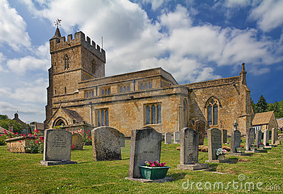 Saint Lawrence Church in Cotswolds, Burton-on-the-
