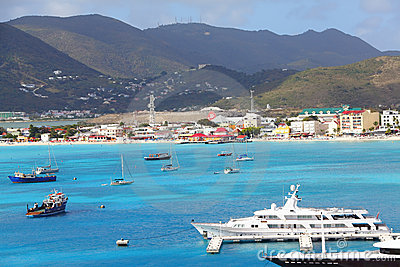 Saint Maarten Caribbean Editorial Photo