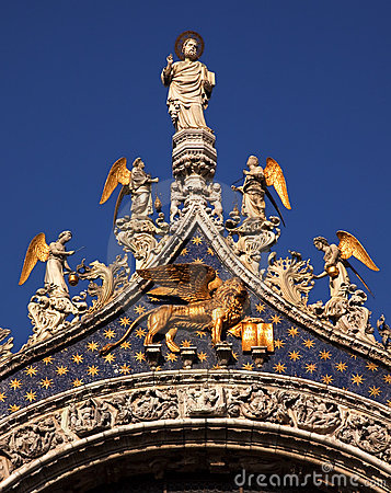 Free Saint Mark S Basilica Angels Statue Venice Royalty Free Stock Images - 11911579