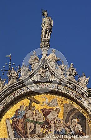 Saint Mark s Basilica Christ Rising Mosaic Venice