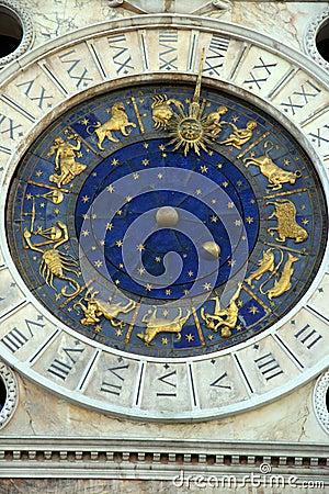 Saint Mark Square Clock Tower Venice Royalty Free Stock