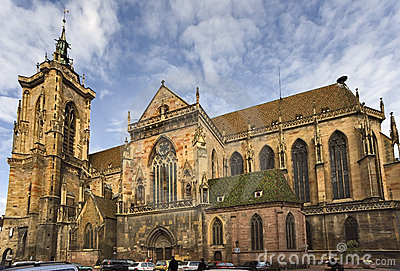 Saint Martin Collegiate church in Colmar