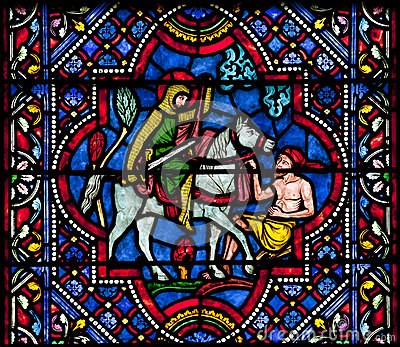 Saint Martin of Tours stained glass