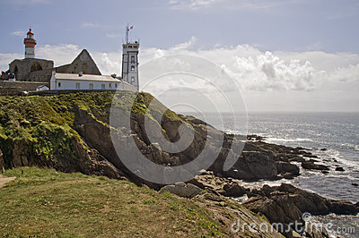 Saint Mathieu lighthouse in Britain