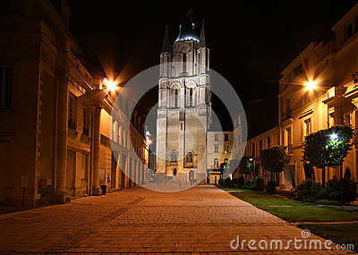 Saint-Maurice Cathedral at night, Angers