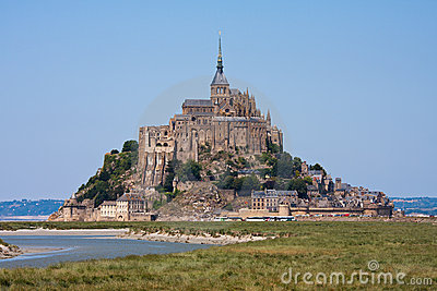 Saint Mont Michel, medieval abbey in France