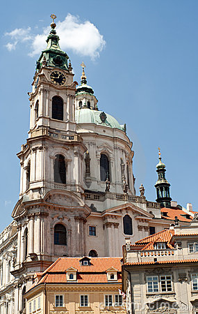 Free Saint Nicholas Church In Prague Royalty Free Stock Photo - 19829545