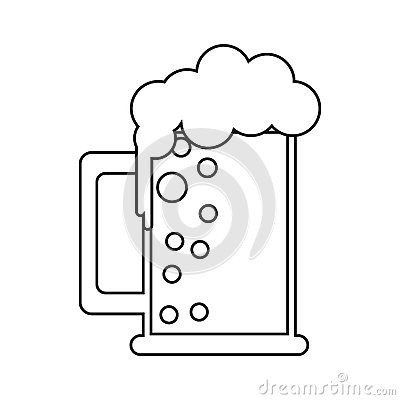 Free Saint Patrick Day Mug Of Beer Foam Bubbles Cold Outline Stock Image - 84442101