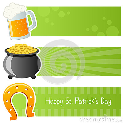 Saint Patrick s Day Horizontal Banners