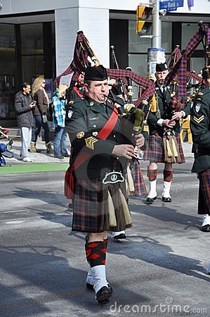 Saint Patrick s Day parade, Ottawa Editorial Stock Photo