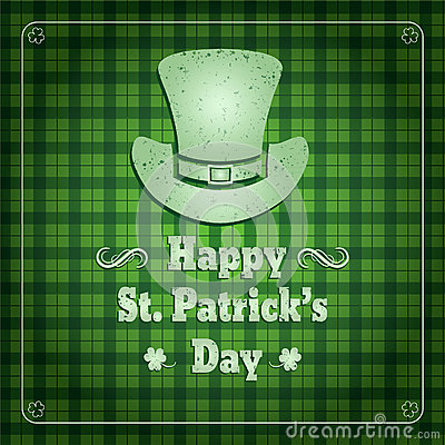 Saint Patrick's Day Retro Background Vector Illustration