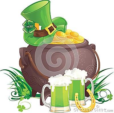 Free Saint Patrick S Day Symbols Royalty Free Stock Images - 17999929