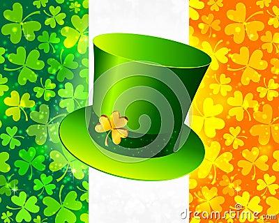 Saint Patrick s hat on Irish flag