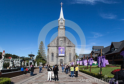 Saint Peter Church Gramado Brazil Editorial Image