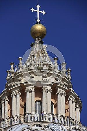 Saint Peter s Basilica dome detail, Vatican City,