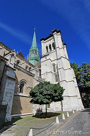 Saint-Peter s cathedral in Geneva, Switzerland