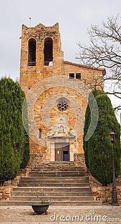 Saint Peter´s Church Pals medieval village