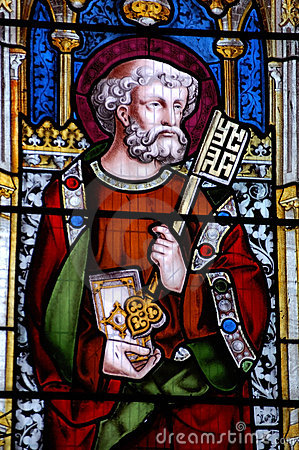 Saint Peter stained glass window