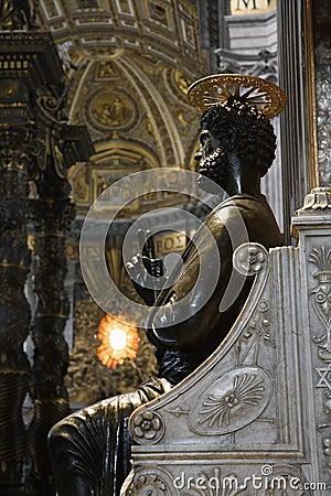 Saint Peter statue in Saint Peter s.