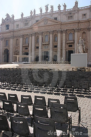 Saint Peters church and seats