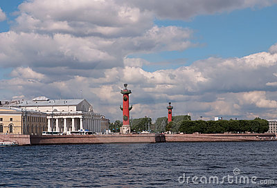 Saint Petersburg. Arrow of Vasilevsky Island.