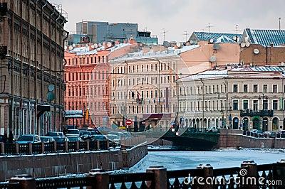 Saint-Petersburg downtown cityscape
