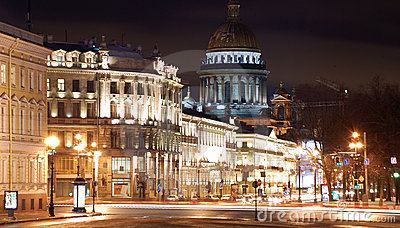 Saint-Petersburg in the nighttime